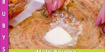 Lachedar Methi ka Paratha Recipe and How to Freeze in Urdu Hindi - RKK