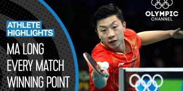 Ma Long 🇨🇳 - The best Olympic table tennis player of the decade? | Athlete Highlights 6