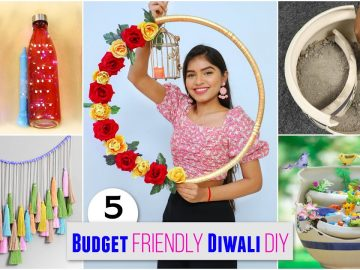 5 Budget Friendly DIWALI Home Decor Ideas | DIYQueen 13