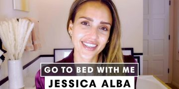 Jessica Alba's Nighttime Skincare Routine | Go To Bed With Me | Harper's BAZAAR 17