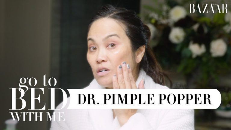 Dr. Pimple Popper's Nighttime Skincare Routine For Dry Skin   Go To Bed With Me   Harper's BAZAAR 1