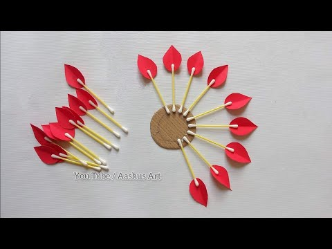 Paper Craft For Home Decoration | Wall Hanging Ideas | Paper Flower Wall Hanging | Paper Craft. 1