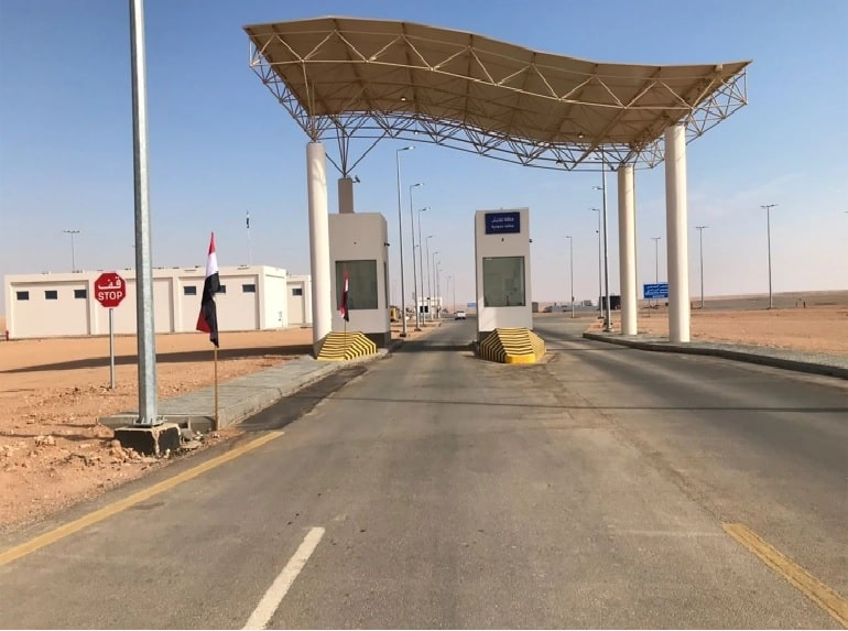 Arar crossing opens for transportation of goods and people for the first time since 1990 3