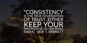 Consistency is the true foundation 20
