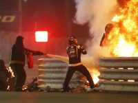 Formula One driver Romain Grosjean was involved in a horrific crash 45