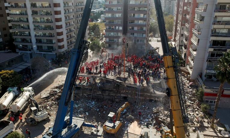 A 70-year-old man was pulled from the rubble of a flattened building in western Turkey 1
