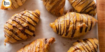 Chocolate Croissants with Monsalwa Frozen Paratha Recipe By Food Fusion