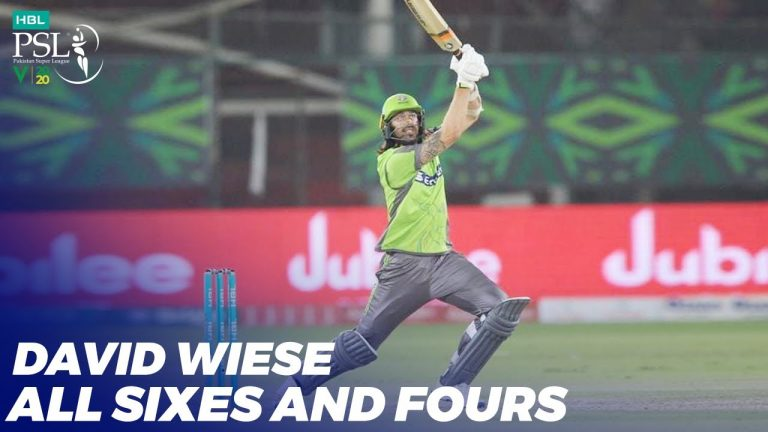 David Wiese All Sixes And Four | HBL PSL 2020 | MB2T