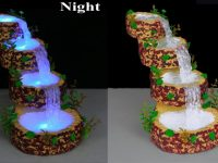 Waterfall from hot glue gun // Waterfall Showpiece for home decoration // Fountain Night Lamp 14