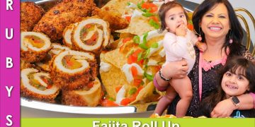 Air Fried Chicken Fajita Roll Ups Recipe in Urdu Hindi - RKK