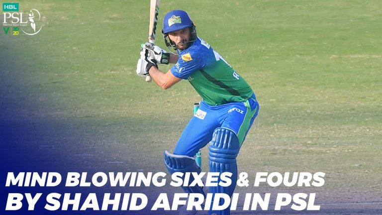 Mind Blowing Sixes & Fours By Shahid Afridi In HBL PSL 2020 | MB2T