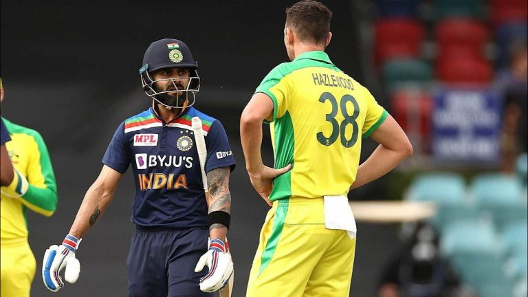 Hazlewood gets Kohli wicket for fourth successive ODI | Dettol ODI Series 2020