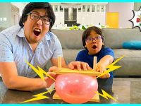 Balloon Pop on Bed of Nails Easy DIY Science Experiments for kids!!! 13
