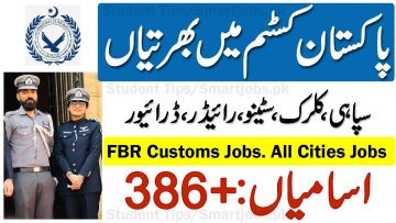New FBR Jobs, Federal Board of revenue jobs ,application forms