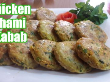 Chicken shami kabab recipe | Restaurant style tasty chicken kebab recipe food by Cooking with Asifa