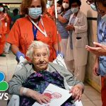 104-Year-Old Spanish Covid-Beater Celebrated By Hospital Staff   NBC News NOW