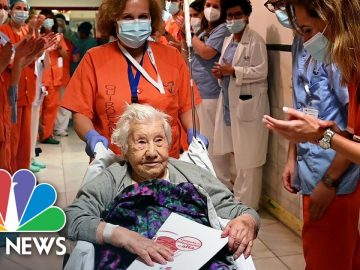 104-Year-Old Spanish Covid-Beater Celebrated By Hospital Staff | NBC News NOW