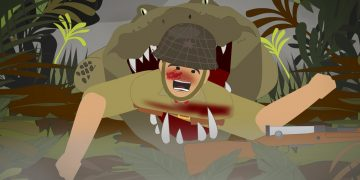 The Japanese Army VS deadly Crocodiles in WWII (Ramree Island Massacre)