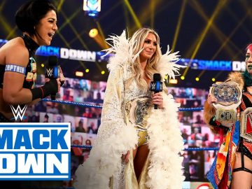 Asuka & Charlotte Flair get interrupted by their SmackDown challengers: SmackDown, Dec. 25, 2020