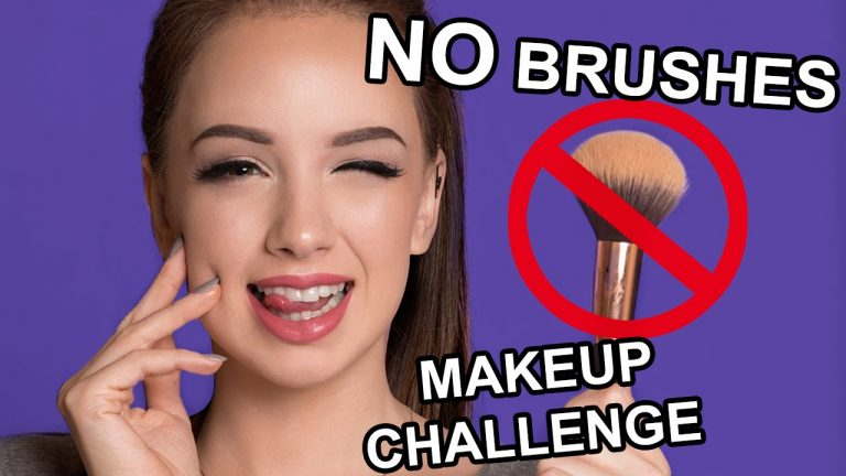 FULL FACE USING ONLY MY FINGERS (NO BRUSHES Makeup Challenge ) | Denitslava