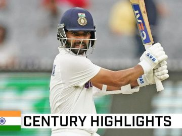 Captain Rahane outstanding in series' first ton | Vodafone Test Series 2020-21