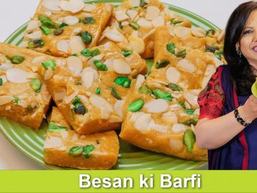 Besan ki Barfi ya Mithai Fast & Easy Homemade Mithai Recipe in Urdu Hindi - RKK