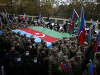 'Historic victory' as Azerbaijan fully reclaims lands around Nagorno-Karabakh from Armenia 25
