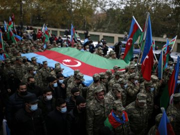 'Historic victory' as Azerbaijan fully reclaims lands around Nagorno-Karabakh from Armenia 9