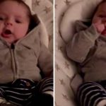 2-month-old baby adorably makes animal sounds