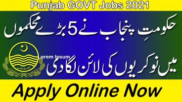 New Punjab Govt Jobs 2021 , Apply Online PPSC Jobs 2021 advertisement