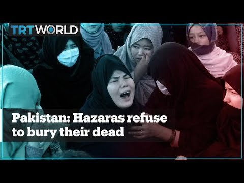 Pakistan's Hazara community protests against the killing of miners by Daesh