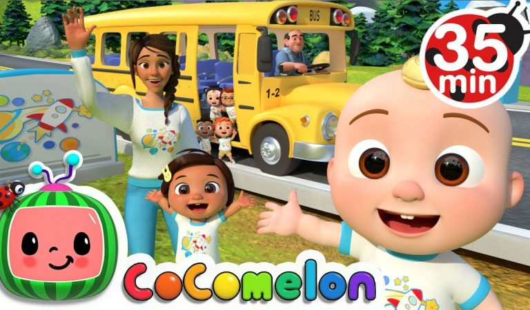 Wheels On The Bus (School Edition) + More Nursery Rhymes & Kids Songs – CoComelon