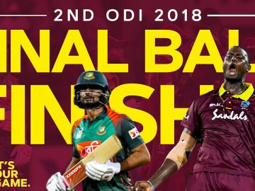 ODI Goes Down to FINAL Ball! | West Indies v Bangladesh 2nd ODI 2018