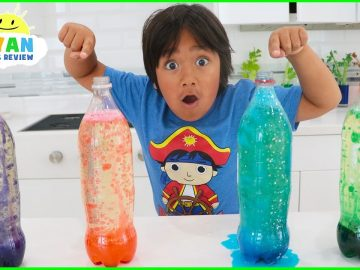 How to Make Lava Lamp at Home! Homemade Easy Science Experiments for Kids!!! 3