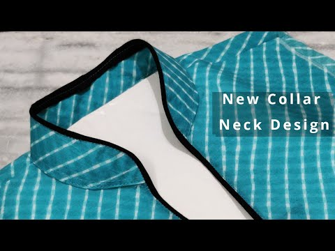Very Easy Collar Neck Design Cutting and Stitching || Kurti Front Neck Design 1