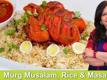 Murgh Musalam Rice, & Khatharnak Masala Platter Recipe in Urdu Hindi -RKK