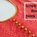 Attractive Kurti Neck Design with Placket and Potli Buttons || Kurti Front Neck Design 3