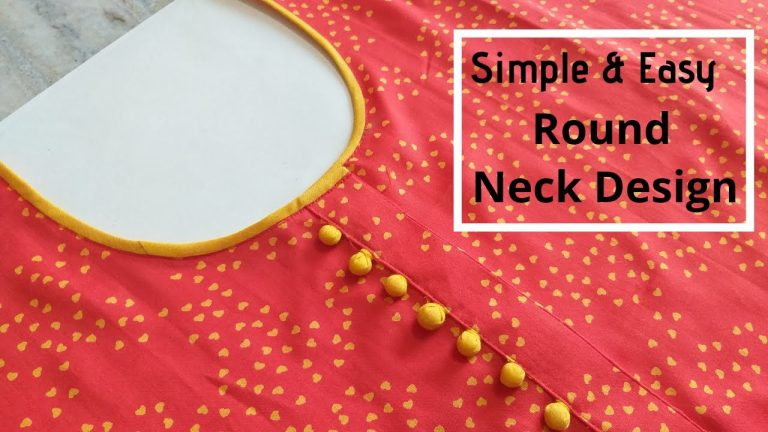 Attractive Kurti Neck Design with Placket and Potli Buttons || Kurti Front Neck Design 1