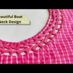 Attractive and Easy Front Boat Neck Design Cutting and Stitching @RR Fashion Point 3