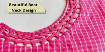 Attractive and Easy Front Boat Neck Design Cutting and Stitching @RR Fashion Point 19