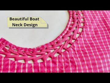 Attractive and Easy Front Boat Neck Design Cutting and Stitching @RR Fashion Point 9
