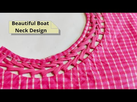 Attractive and Easy Front Boat Neck Design Cutting and Stitching @RR Fashion Point 1
