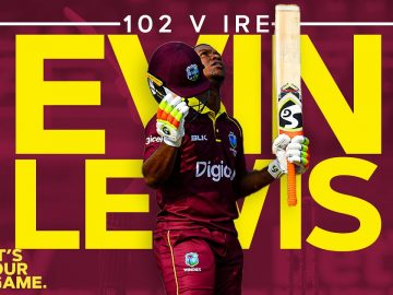 Evin Lewis Leads West Indies Home with 102! | West Indies v Ireland 3rd ODI 2020
