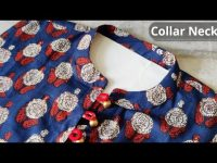 Kurti Front Neck Design Easy Cutting and Stitching || Collar Neck Design @CNN Kitchen 32