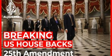 US House backs 25th Amendment to remove Trump