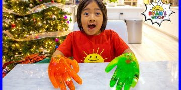 Easy DIY Science Experiment for kids Ice Hands Gloves !!! 5
