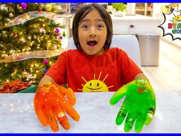 Easy DIY Science Experiment for kids Ice Hands Gloves !!! 19