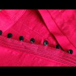Stunning V Collar Neck Design With Placket Easy Cutting and Stitching /Kurti Front Neck Design 1