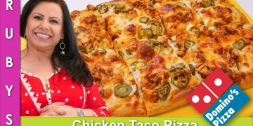 Domino's Chicken Taco Pizza Recipe in Urdu Hindi - RKK