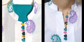 New Collar Neck Design / Placket / Loops / Easy Cutting and Stitching (neck design) 7